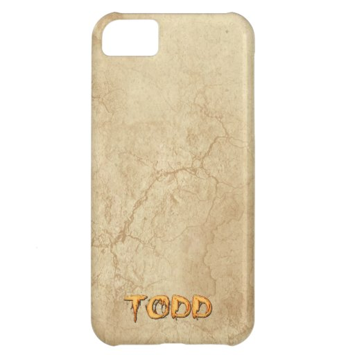 TODD Name Personalised Cell Phone Case Cover For iPhone 5C