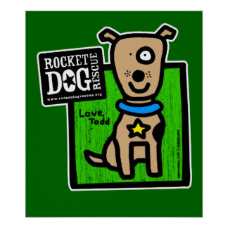 Todd Parr - Brown Dog Poster