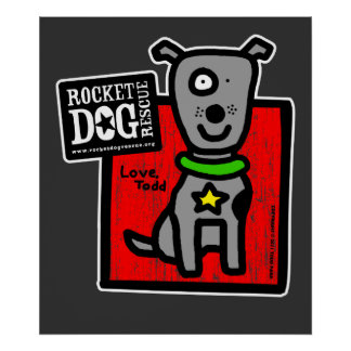 Todd Parr - Gray Dog Poster