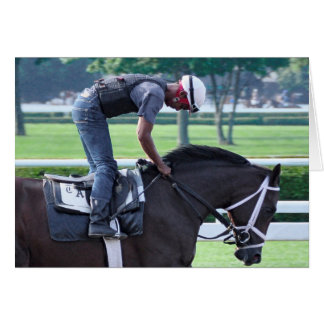 Todd Pletcher Opening Day Workouts Greeting Cards