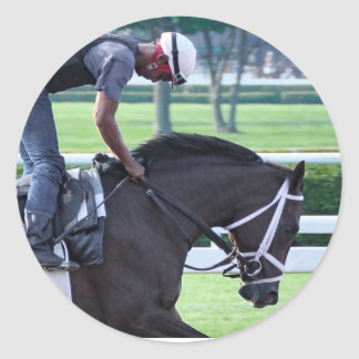 Todd Pletcher Opening Day Workouts Classic Round Sticker