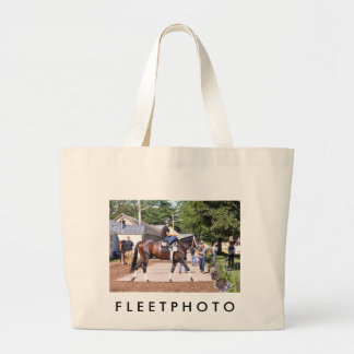 Todd Pletcher Stables Large Tote Bag