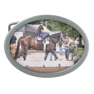 Todd Pletcher Stables Oval Belt Buckle