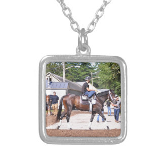 Todd Pletcher Stables Silver Plated Necklace