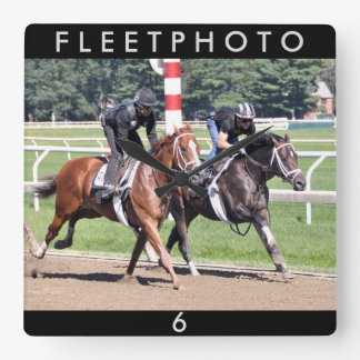 Todd Pletcher Workouts Square Wall Clock