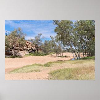 Todd River Basin Near Alice Springs Poster
