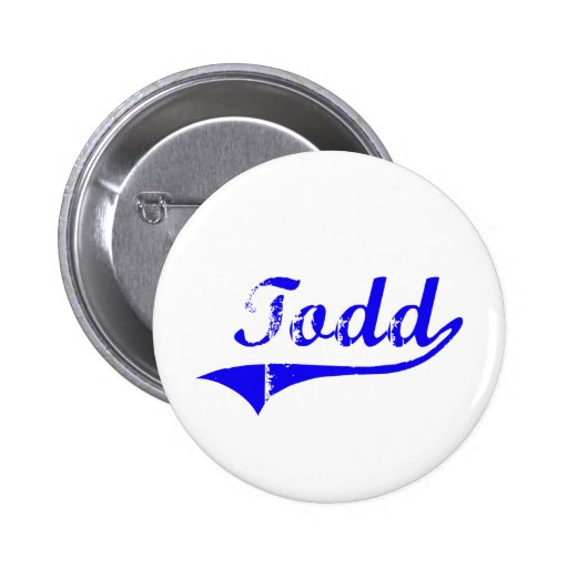 Todd Surname Classic Style Pin