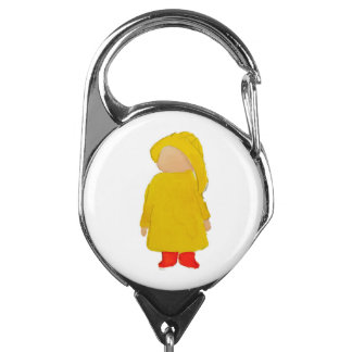 Toddie Time April Showers Rainy Day Toddler Badge Holder