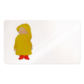 Toddie Time April Showers Rainy Day Toddler Business Card