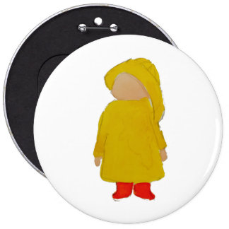 Toddie Time April Showers Rainy Day Toddler Button