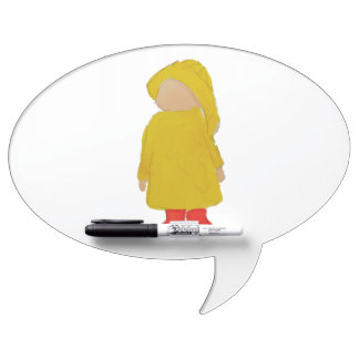Toddie Time April Showers Rainy Day Toddler Dry Erase Board