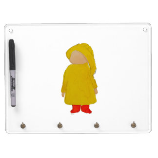 Toddie Time April Showers Rainy Day Toddler Dry Erase Board With Keychain Holder