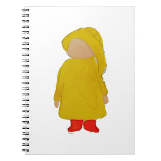 Toddie Time April Showers Rainy Day Toddler Spiral Notebook