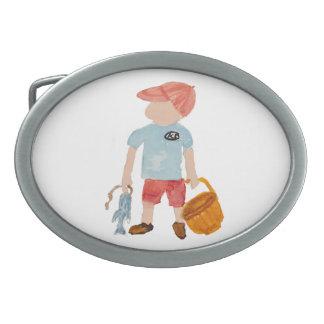 Toddie Time Summer Nantucket Fishing Holiday Boy Belt Buckle