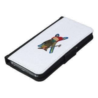 Toddie Time Winter Snow Days Toddler Skier Boarder Samsung Galaxy S6 Wallet Case