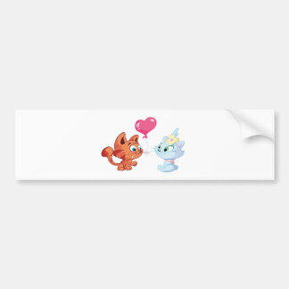Toddle is in love bumper sticker