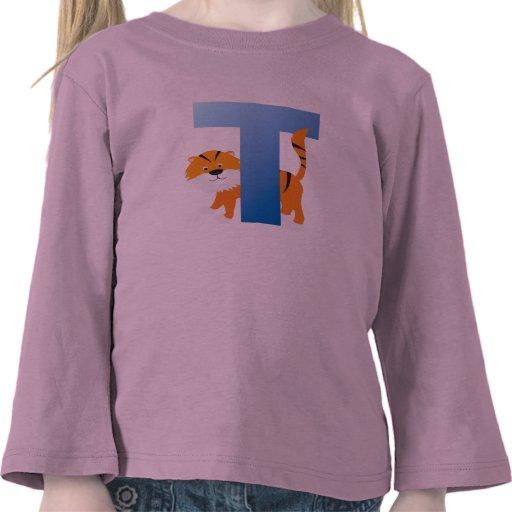 toddler alphabet long sleeve top tee shirts