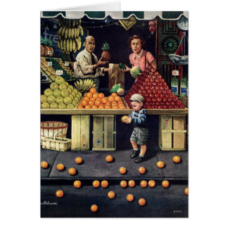 Toddler and Oranges Card