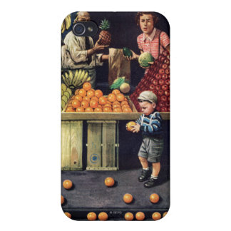 Toddler and Oranges iPhone 4/4S Covers