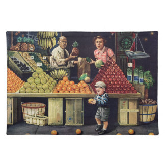 Toddler and Oranges Placemat