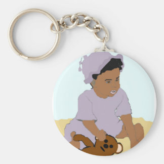 Toddler and Teddy Keychain