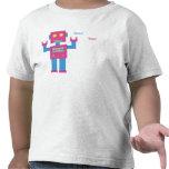 Toddler Beep Bop! Robot Shirt (Pink/Blue)