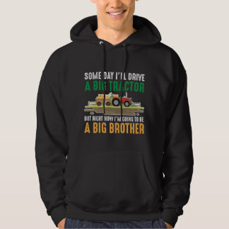 Toddler Big Brother Graphic Tractor Sibling Son Hoodie