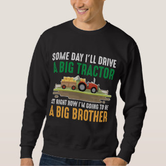 Toddler Big Brother Graphic Tractor Sibling Son Sweatshirt