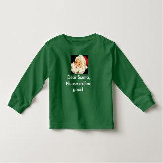 Toddler Christmas Shirt Cute and Funny Santa