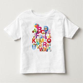toddler crazy cartoon alphabet t-shirt