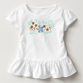 Toddler Floral Ruffle Tee