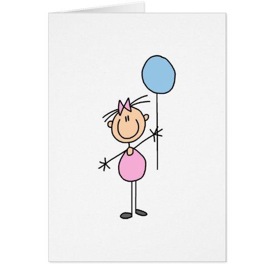 Toddler Girl Stick Figure Card