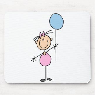 Toddler Girl Stick Figure Mousepad