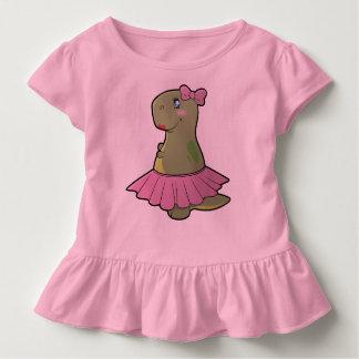 Toddler Girls Dinosaur T-Rex Ruffled Shirt