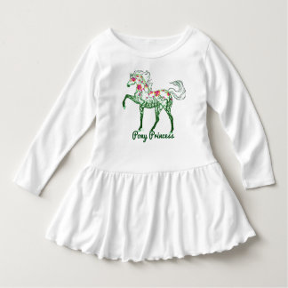 Toddler Girls Pony Princess Knit Long Sleeve Dress