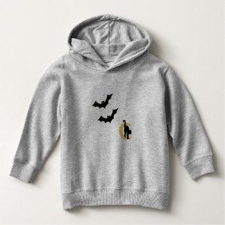 Toddler Halloween Sweatshirt Bats Cat with Moon