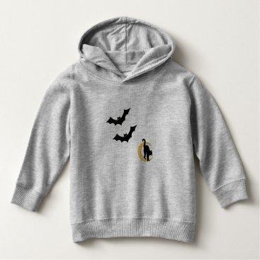 Halloween Themed Toddler Halloween Sweatshirt Bats Cat with Moon