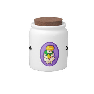 toddler holding chick purple oval.png candy dishes