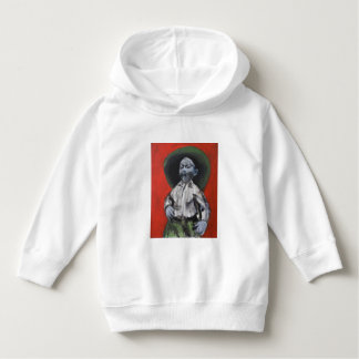 Toddler hoodie/ pullover white with cowboy