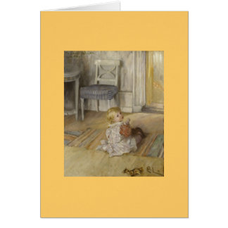 Toddler in a Pinafore Card