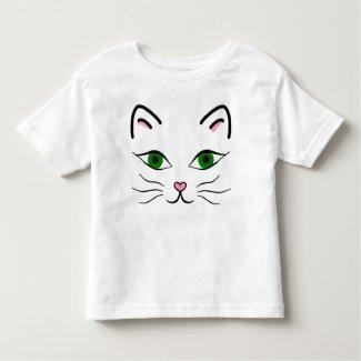 Toddler Jersey T-Shirt - Kitty Face