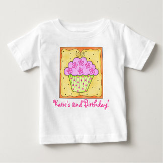 Toddler Kid's Pink Cupcake Tee Shirt