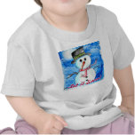 Toddler Let it Snow Snowman Tee Shirt