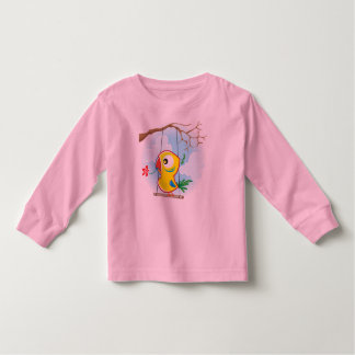 Toddler Long Sleeve T-Shirt, Pink, with parrot Toddler T-shirt