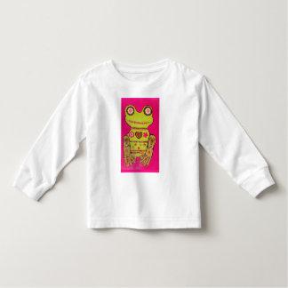 Toddler Long Sleeve T-Shirt with Big Frog Design
