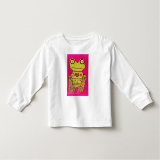 Toddler Long Sleeve T-Shirt with Big Frog Design
