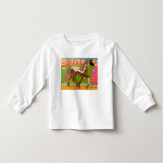 Toddler Long Sleeve T-Shirt with Bright Horse