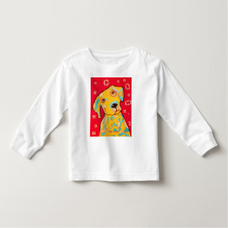 Toddler Long Sleeve T-Shirt with Cute Dog