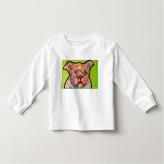 Toddler Long Sleeve T-Shirt with Cute Dog Design