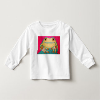 Toddler Long Sleeve T-Shirt with Cute Frog Design